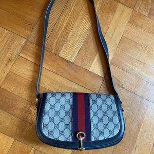 70s Vintage GUCCI GG signature crossbody purse